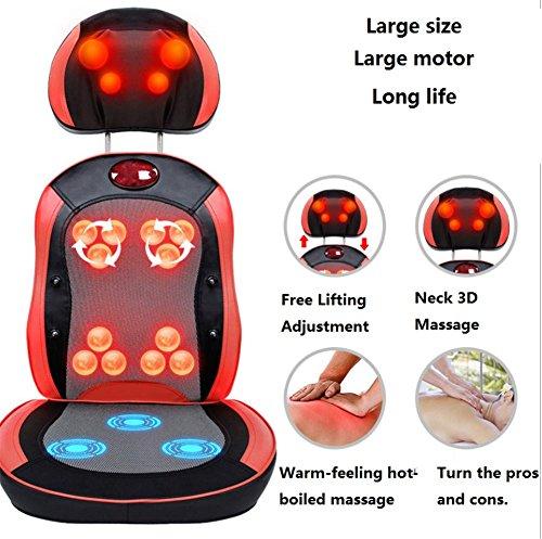 SHISHANG Multifunktionsmassagestuhl Heim Kissen 3D Massagekugel Kneten Infrarot-Therapie freie Einstellung Magnetbehandlungs Heizfunktion für das Teil (Beine, Gesäß, Hüfte, Rücken, Hals) , 1