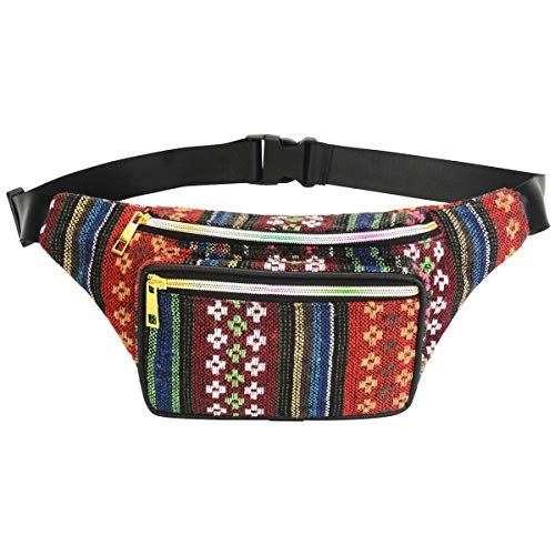 Leyeet Boho Ethnic Style Tribal Gürteltasche Outdoor Sports Brusttasche (Color : E)