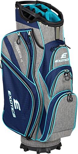 Tour Edge Male Exotics Xtreme4 Cart Bag (Men's, Exotics Ladies Extreme 4 Cart Bag Navy Scratch Plaid/Teal (Bag Cart Lady)