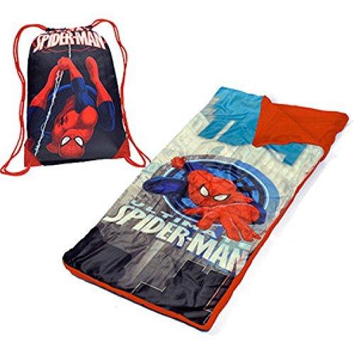 Marvel Ultimate Spiderman Kinder Kleinkinder Schlafsack Sleepover Set (Kinder Spiderman-schlafsack Für)