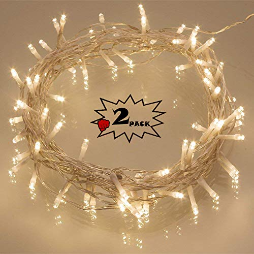 [2 Pack] 40 LED OutdoorBattery Fairy Lights