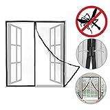 PrimeMatik - Moskitonetz für Fenster 130 x 150 cm Fliegengitter mit Magnetverschluss