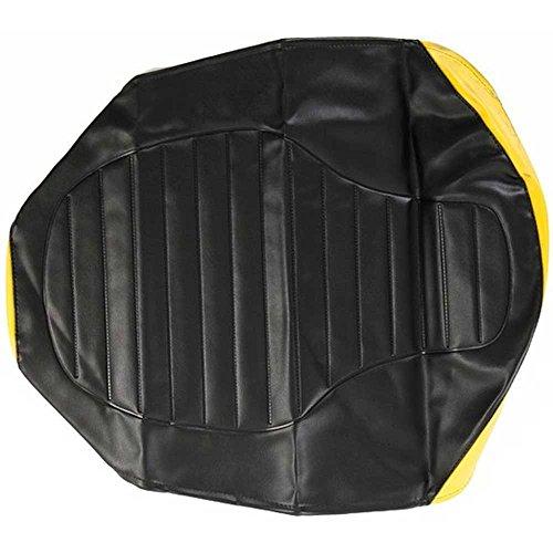 Motorrad Sitzbankbezug strukturiert SR50 SR80 S53 schwarz/gelb