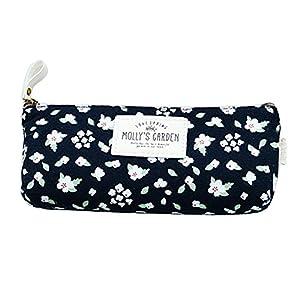 HugeStore – Estuche de lona floral vintage para lápices, estuche para lápices, cosméticos, para mujeres y niñas, color…
