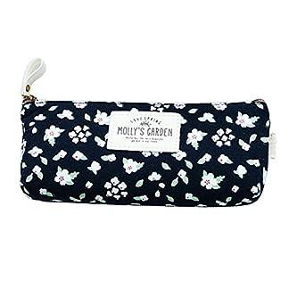 hugestore Vintage Floral Estuche De Lona Bolsa lápiz bolsa de palos de caso Holder caso bolsa de cosméticos para mujeres niñas