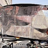 fghdfdhfdgjhh Car-Styling Car Hood Motor Firewall Estera térmica Deadener Aislamiento acústico Amortiguación Papel de Aluminio Etiqueta Adhesiva Mat Mat