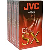 Haute qualité JVC vierge cassette vidéo VHS pour haute performance et Répétez Utilisation SX120 5 x 2 Hour