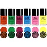 BMC 6pc Bright and Bold Nail Art Stamping Polishes - Winter Solstice Collection
