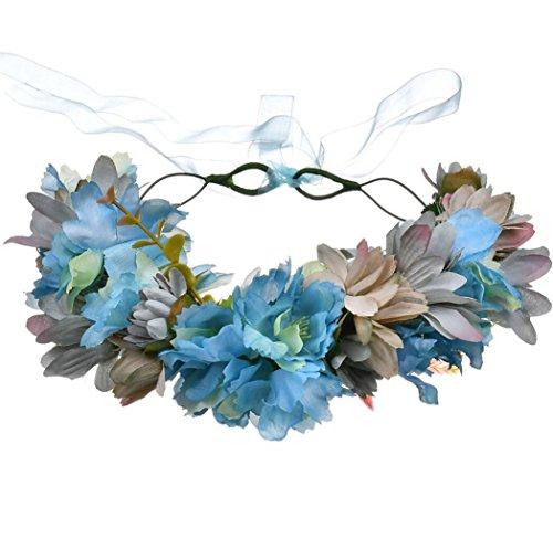 Sonnenblume Ring Kranz Braut Brautjungfer Kopfschmuck Stirnband Ausflug Picknick Kopf Blumen , blue (Blume Krone Sonnenblume)
