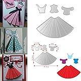 Timeracing DIY cute Dress ombrello da taglio stencil scrapbook Paper Cards Crafts Decor Tool, Acciaio al carbonio, 1#, 1