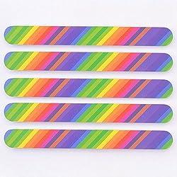 Elite99 5PCS Nail Art Colorful Buffing Sanding File 2-Side Manicure Acrylic Buffer Tool