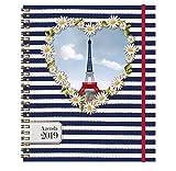 Exacompta - 1 Agenda Eurotime 22W'Les Cakes de Bertrand' - 18,5 x 22,5 cm - 2019 (Coeur)