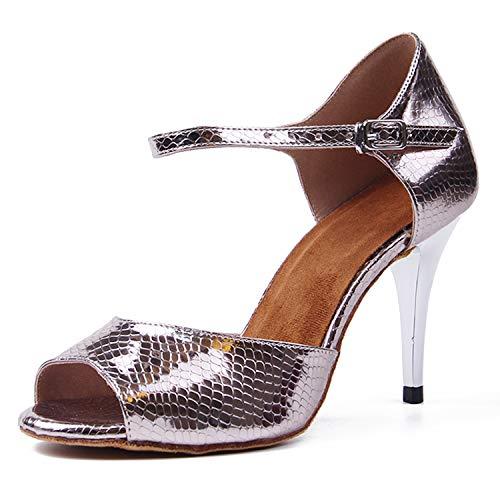 Syrads Zapatos de Baile Latino para Mujer Salsa Tango Moderna Bachata Vals Zapatos de Baile de Salón...