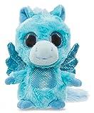 YooHoo & Friends Plüschtier Pferd Pegasus blau, Kuscheltier mit Glitzeraugen ca. 13 cm