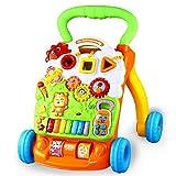 Lauflernhilfen, 6-18 Monate Baby Einstellbare Geschwindigkeit Höhenverstellbar Spielstation Überrollschutz Musik Auto Fur Babys Baby walker