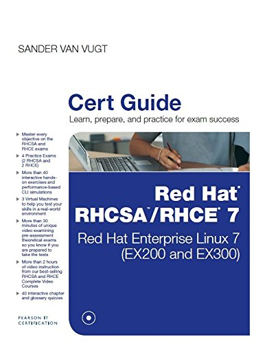 RED Hat RHCSA RHCE 7 CERT GUIDE: RED HAT ENTERPRISE LINUX 7 EX 200 AND EX 300) 1/ED