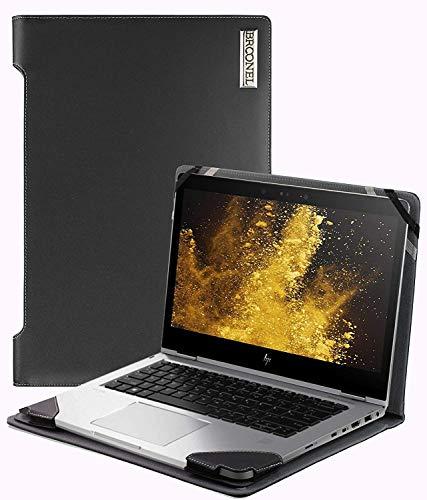Broonel - Profile Series - Schwarzes Premium Leder Case/Cover Trage Tasche kompatibel mit der HP Elitebook X360 830 -