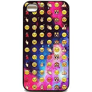 Coque pour iPhone 4/4s Motif smiley cool Emoji emojis faces de l'espace