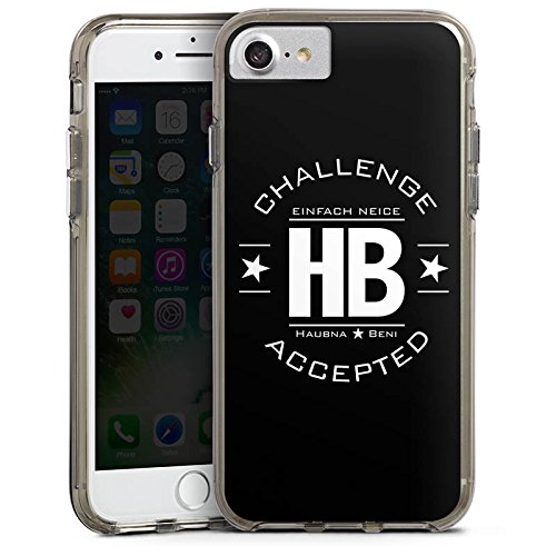 Apple iPhone X Silikon Hülle Case Schutzhülle TwoEpicBuddies Fanartikel Merchandise Youtuber Bumper Case transparent grau