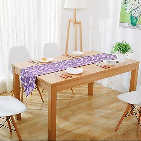 Memorecool Drapeau de table/chemin de modèle Animal Coton 30,5x 180,3cm Petit Cerf Gris Tone, Lin, deer3, 12x79inch