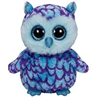 Ty - Beanie Boos Oscar, búho, 23 cm, Color Azul (United Labels