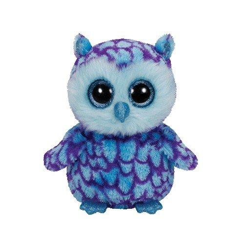 """Beanie Boo Owl - Oscar - Blue - 24cm 9"""""""
