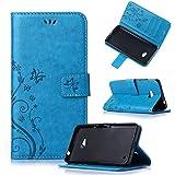 Beiuns Funda de PU piel para Microsoft Lumia 640 / Lumia 640 Dual-SIM (5 pulgadas) Carcasa - R149 azul hermoso