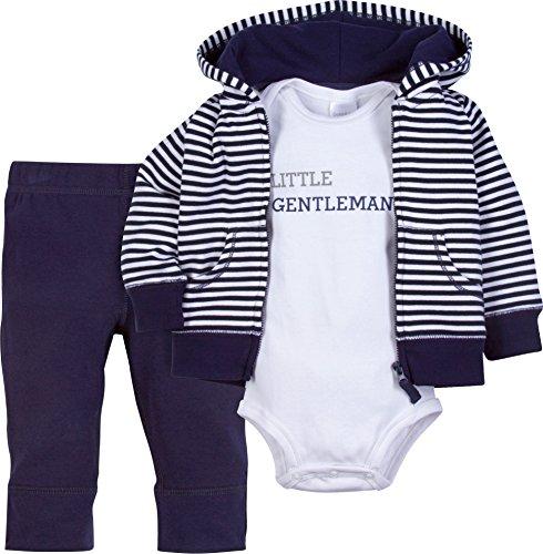Ookie & Co- Baby-Bekleidungsset für Jungen & Mädchen - Jacke (Hoodie), Hose und Body - 100{c86b5c2c5c1002ff46b3e87fd6d437dfedb8c6954463775b73310b4ed7fd03c8} Baumwolle mit Druckknöpfen