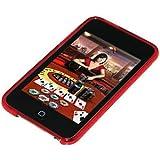 Amzer - Cover posteriore in gel con motivo a rombi per iPod Touch 2G / 3G, colore: Rosso
