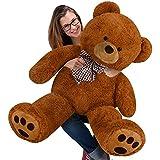 Kuschel Teddybär 50 - 140 cm in Braun, Creme oder Weiß - Kuscheltier Stofftier Plüschbär Teddy