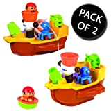 2x Tomy 71602 Aquafun Pirate Bath Ship