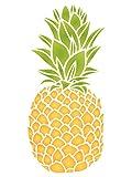 Ananas Schablone–wiederverwendbar Obst Gemüse Küche Wand Schablone–Vorlage, auf Papier Projekte Scrapbook Tagebuch Wände Böden Stoff Möbel Glas Holz etc. Größe S