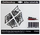 Adesivi 3d–910023–forma di ragnatela 1/Spider–Protezione Trasparente Adesivo–univ. per tutte le superfici lisce/ideale per auto, Casco, frecce, porte, finestre, cellulare, laptop