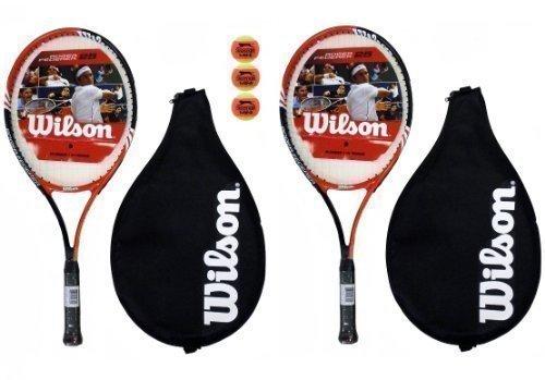 2 X Wilson Roger Federer 63cm Tennisschläger 3 Tennisbälle