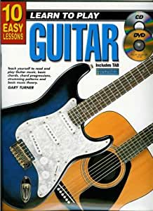 10 Easy Lessons - Learn to Play Guitar - Book, CD & DVD