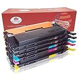 Toner Kingdom 5 Pack kompatibel Tonerpatronen für Samsung CLT-406S CLP-360 CLP-365 CLP-365W CLP-360N CLP-365W CLX-3300 CLX-3305 CLX-3305FN CLX-3305FW CLX-3305N CLX-3305W Xpress C410W SL-C460FW Drucker (2 Schwarz,1 Cyan,1 Gelb,1 Magenta)