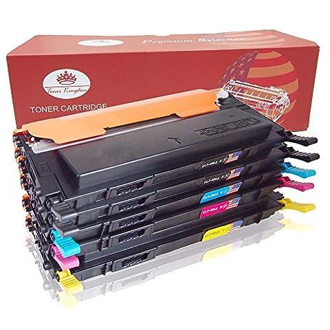 Toner Kingdom 5 Pack Compatible Samsung CLT-406S Toner Cartridges For use in Samsung Xpress C410W C460W C460FW C467W, CLP-365 CLP-360 CLP-365W CLP-360N CLP-368 CLX-3300 CLX-3305 CLX-3305FN CLX-3305FW CLX-3305N CLX-3305W (2 Black, 1 Cyan, 1 Yellow, 1 Magenta)