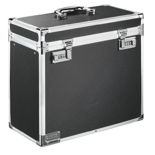 Leitz Vaultz - Caja de archivo de seguridad portátil, tamaño folio, color negro
