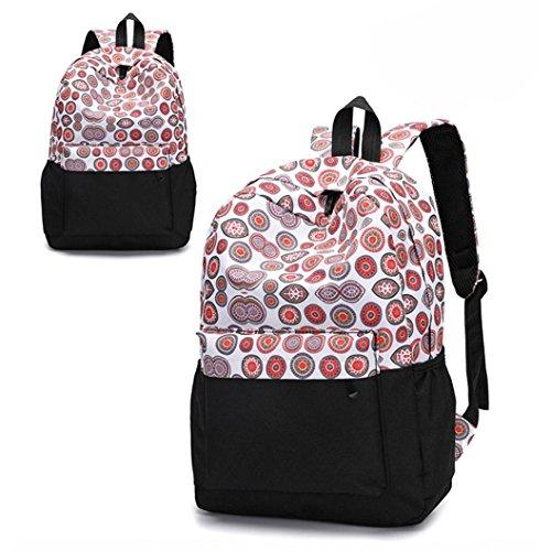 Gaddrt Sacs à dos imprimés floraux, les femmes fraîches de modèle sacs, sac de voyage femelle (F)