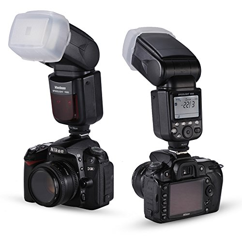 Voeloon V500 i TTL del Flash Speedlite para Nikon DSLR / D5300 D7000 D7100 D90 D5200 D700 D800 D300 D300S D610 D4 D3S D3X + Flash Soporte + Bolsa Protectora + Difusor