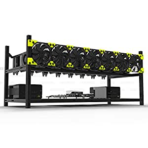Veddha Professional 8 GPU Miner Case Aluminum Stackable Mining Case Rig Open Air Frame For Ethereum(ETH)/ETC/ ZCash/Monero/BTC Excellent air convection design to improve GPU performance and life