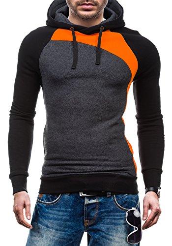 BOLF – Sweat-shirt à capuche – Pull de sport - STX JACK – Homme Orange