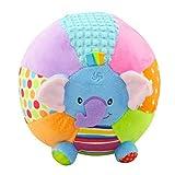 Isuper Babybälle Plüsch, Baby Ball Spielzeug Rassel mit Musik Baby Greiflinge Weiches Niedliches Plüschtier Motorikspielzeug (Elefant)