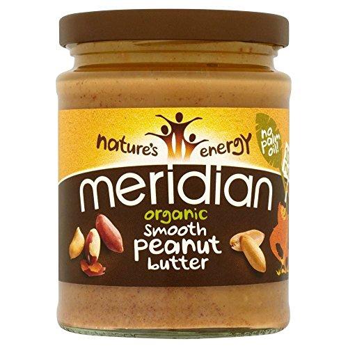 Meridian Bio glatte Erdnussbutter ohne Zuckerzusatz (280g) - Packung mit 6 (Erdnussbutter Bio Glatte)