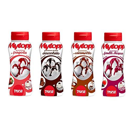 GR 800Salsa auf Schokolade Erdbeere Karamell und Brombeere für Kuchen und Eis Dichtung Topping Sauce for Sweet and Ice Cream