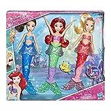 Poupees Disney Princesses - La petite sirène - Ariel et ses 2 sœurs