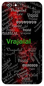 Vrajalal (Lord Krishna) Name & Sign Printed All over customize & Personalized!! Protective back cover for your Smart Phone : LG G4 Stylus