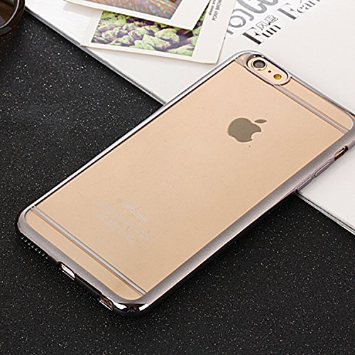 Wkae iphone 6 plus / 6s plus affaire, modèle electroplate caoutchouc silicone ligne tpu doux pour la peau couvrir les cas plus / 6s et iphone 6 Wkae Case Cover ( Color : Gold , Size : IPhone 6 Plus/6S Gray