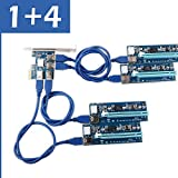 Ubit 6 PIN PCI-E 1x bis 16x Powered Riser Adapterkarte mit 4in1 PCI-E Riser Adapterboard