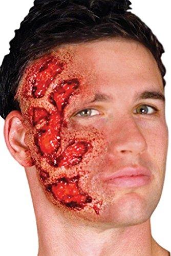 n Halloween Blutige Zombie Spezialeffekte Latex Make-Up Kostüm Kleid Outfit Satz - Gesicht Brennen, One Size, Einheitsgröße ()
